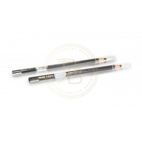 Waterproof eyebrow and eyeliner pencil