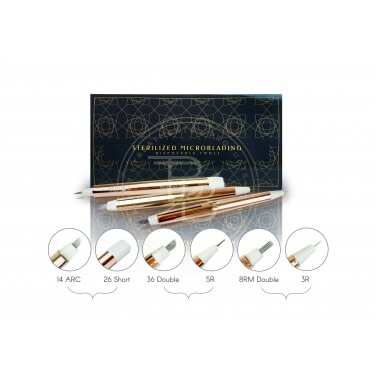 Baltic Brows® disposable double side manual shading tools (10 pcs)