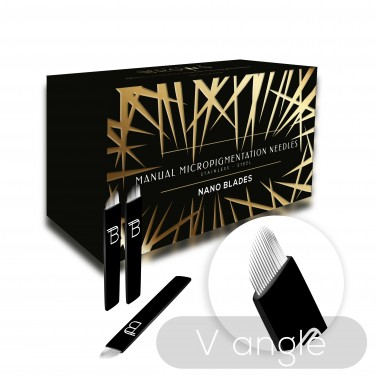 Baltic Brows® V angle (16 pins) blades (50pcs) (narrower)
