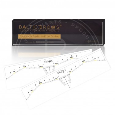Baltic Brows® eyebrows sticky rulers (50 pack)